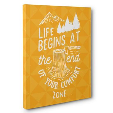 Custom Made Life Begins At The End Canvas Wall Art