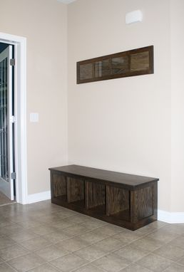 Custom Made Hall Bench With Matching Picture Frame