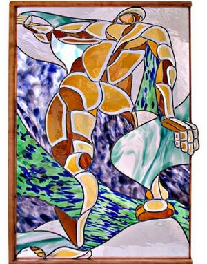 Custom Made Stained Glass-Figurative Design