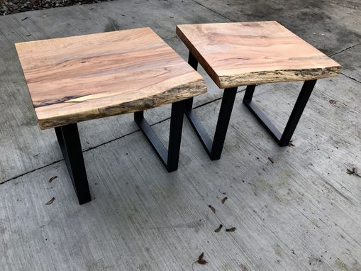 Custom Made Livve Edge Maple End Tables