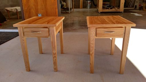 Custom Made White Oak End Tables