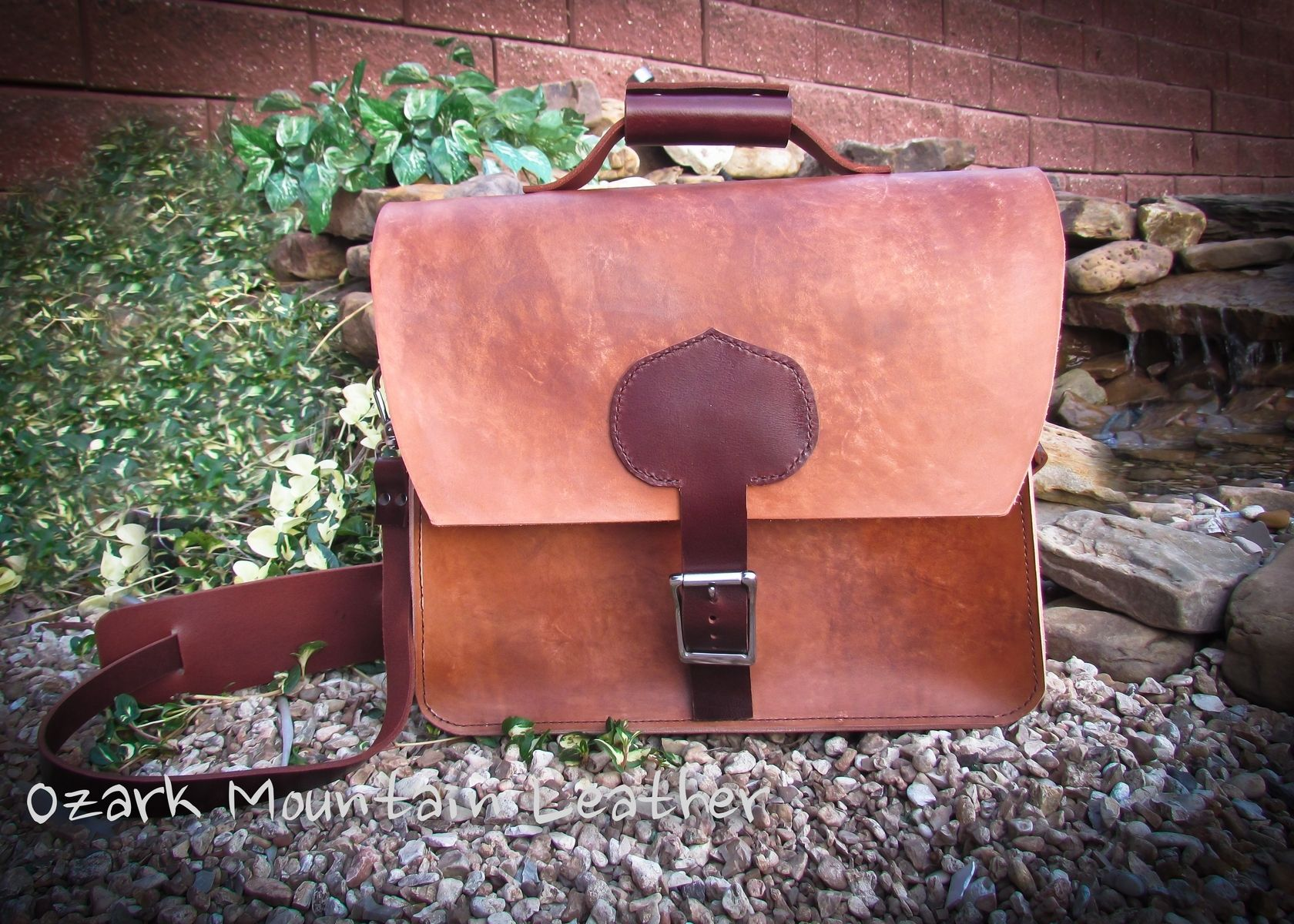 Hand Crafted Leather Messenger Bag by Ozark Mountain Leather ... 127fe9d82fd89