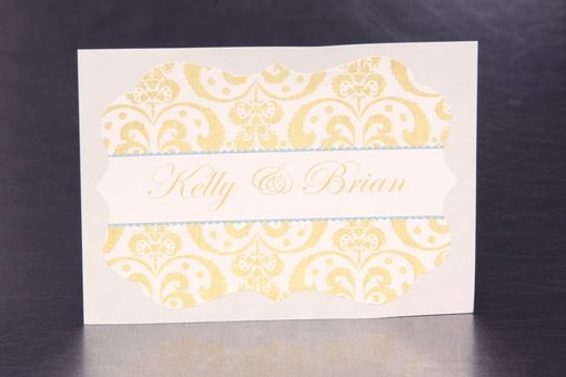 Custom Made Custom Wedding Stickers - Ornate Damask - Guest Bag Labels - Candy Bar Stickers