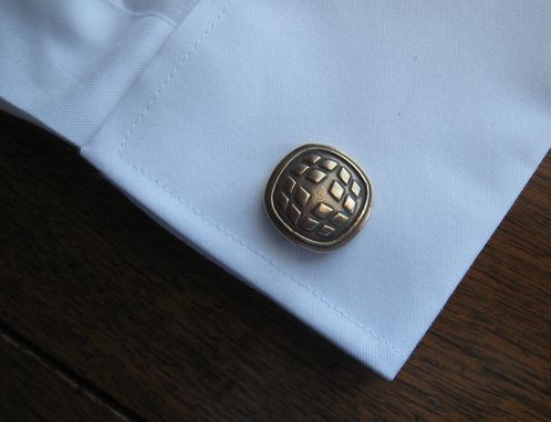 Custom Made Solid Bronze Golden Cuff Links Cufflinks With Company Logo