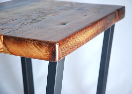 Custom Made Industrial Reclaimed Timber End Table Set