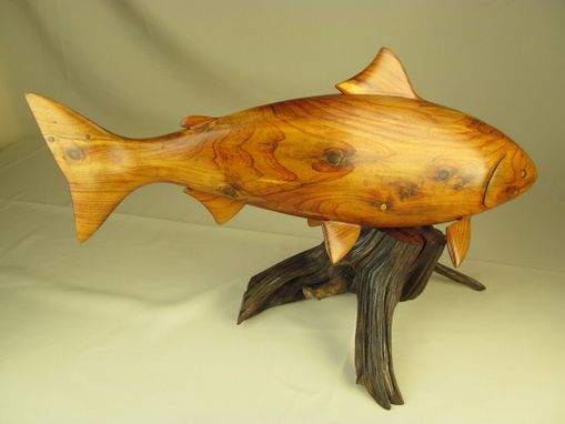 Custom Made Carved Wooden Wildlife Sculpture