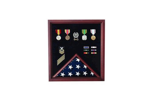 Custom Made Military Flag And Medal Display Case