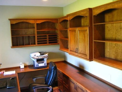 Custom Made Home Office In Cherry