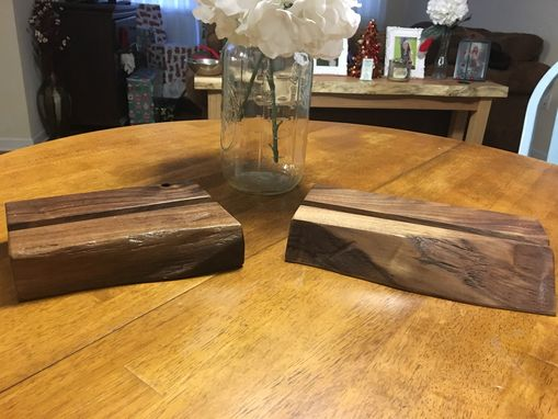 Custom Made Live Edge Walnut Ipad/Tablet Stands