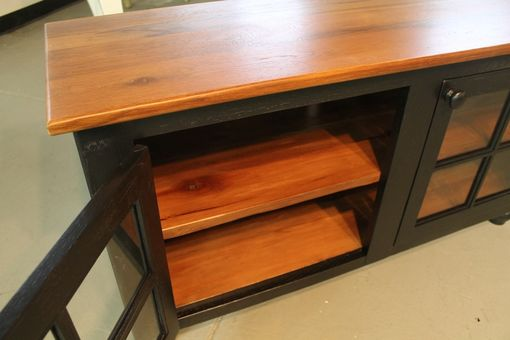 Custom Made Media Cabinet From Reclaimed Wood