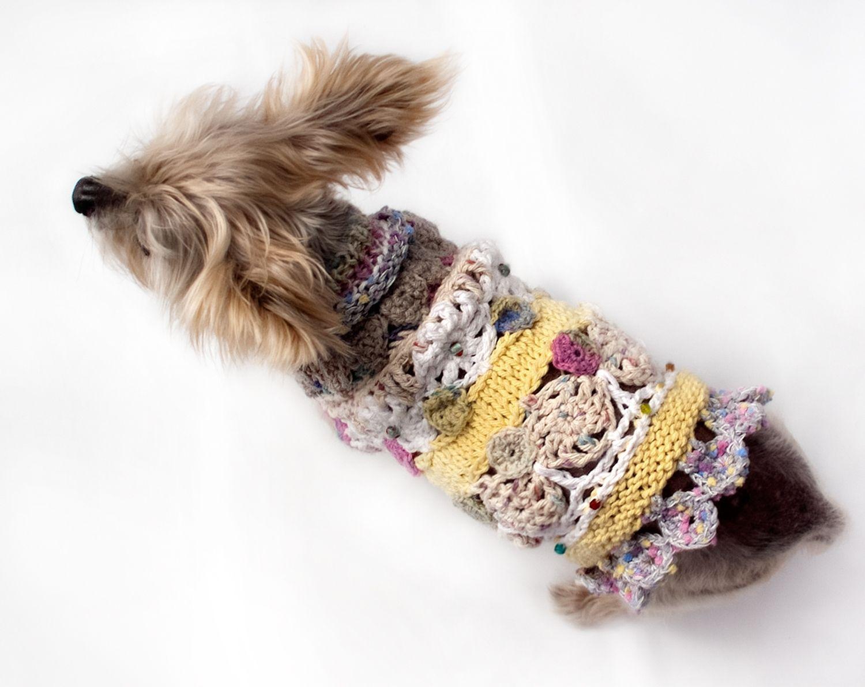 Hand Made Crochet Circle Motifs And Knitting Mix Cotton