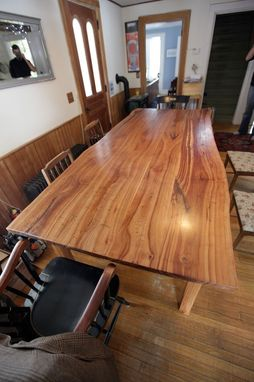 Custom Made Live Edge Cherry Kitchen Table