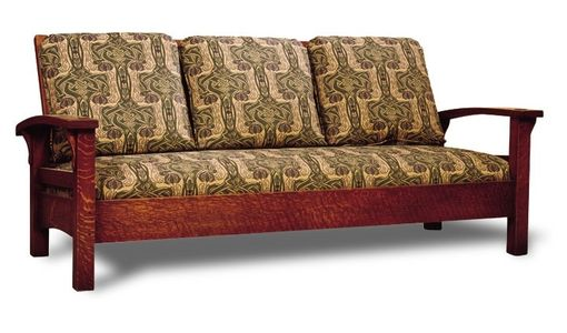 Custom Made Bow Arm Morris Loveseat