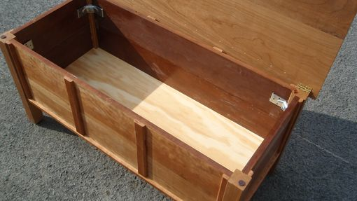 Custom Made Coffe Table With Storage Compartment In Solid Cherry