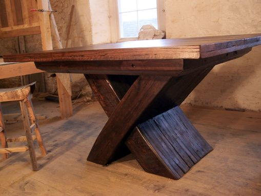 Custom Made Urban Modern X-Base Pedestal Table