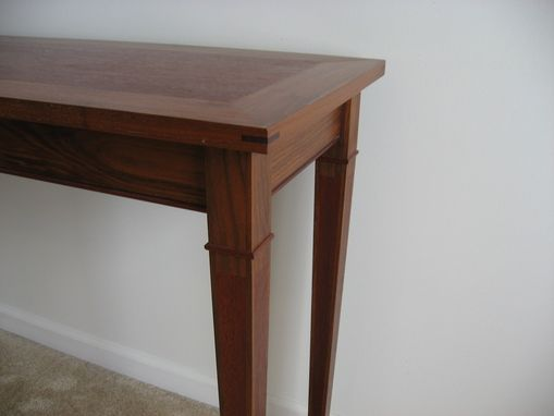 Custom Made Walnut / Mahogany Sofa Table