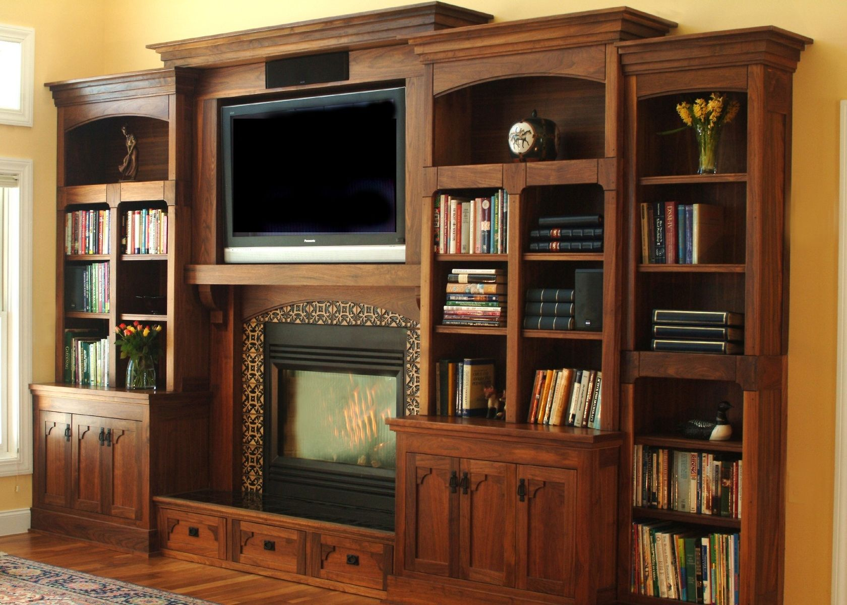 Custom Made Craftsman Entertainment Center By Homecoming