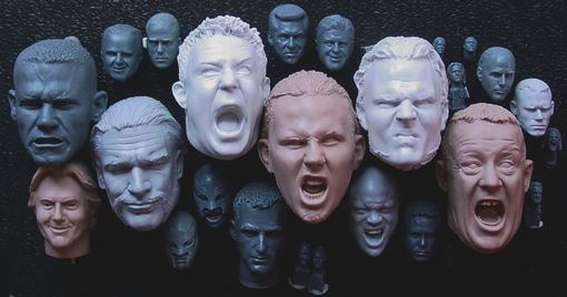 Custom Made Miniature Action Figure Head Sculpts