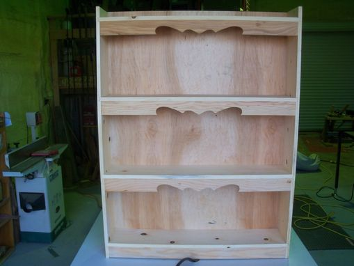 Custom Made Decorative Bookcase With Dado Shelves