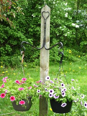 Custom Made Wrought Iron Double Plant Hanger