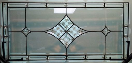 Custom Stained Glass Window Panel Bevels And Clear