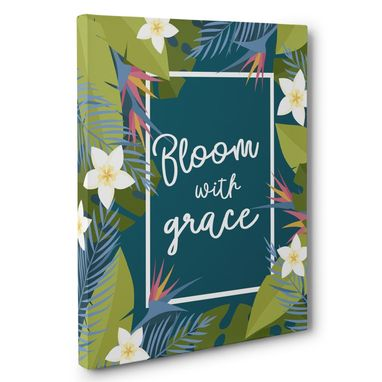 Custom Made Bloom With Grace Canvas Wall Art