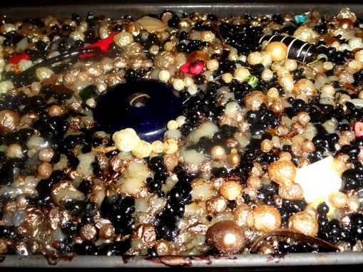 Custom Made Baked Beads/Metal Tray