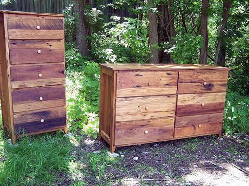 Custom Made Antique Barn Wood Dresser Made From Reclaimed Wormy Chestnut