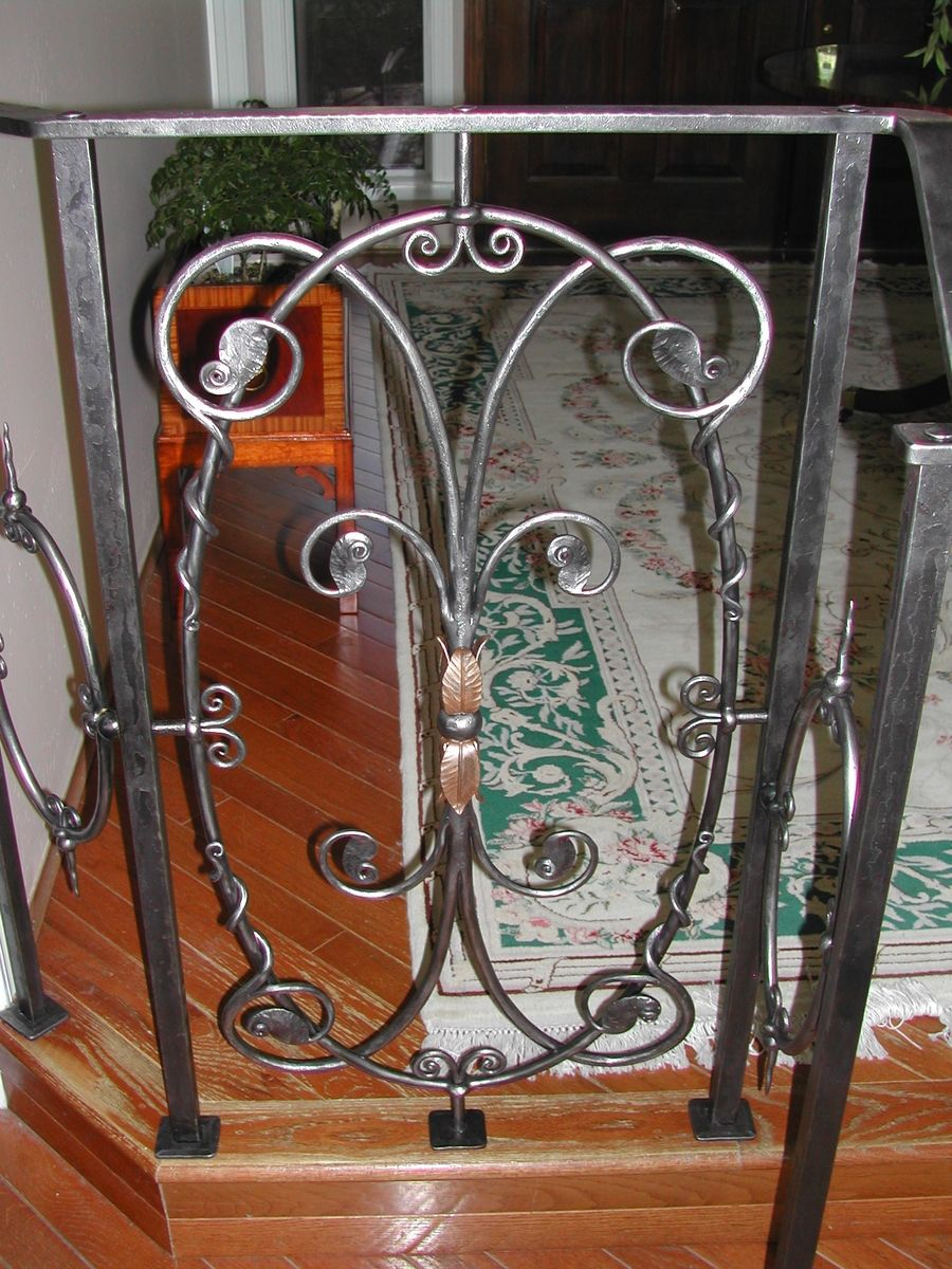 custom made interior wrought iron railings by brian hughes