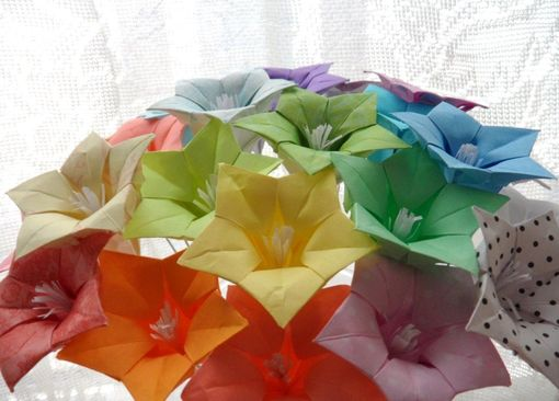 Custom Made Oh So Ombre - Origami Paper Flower Bouquet