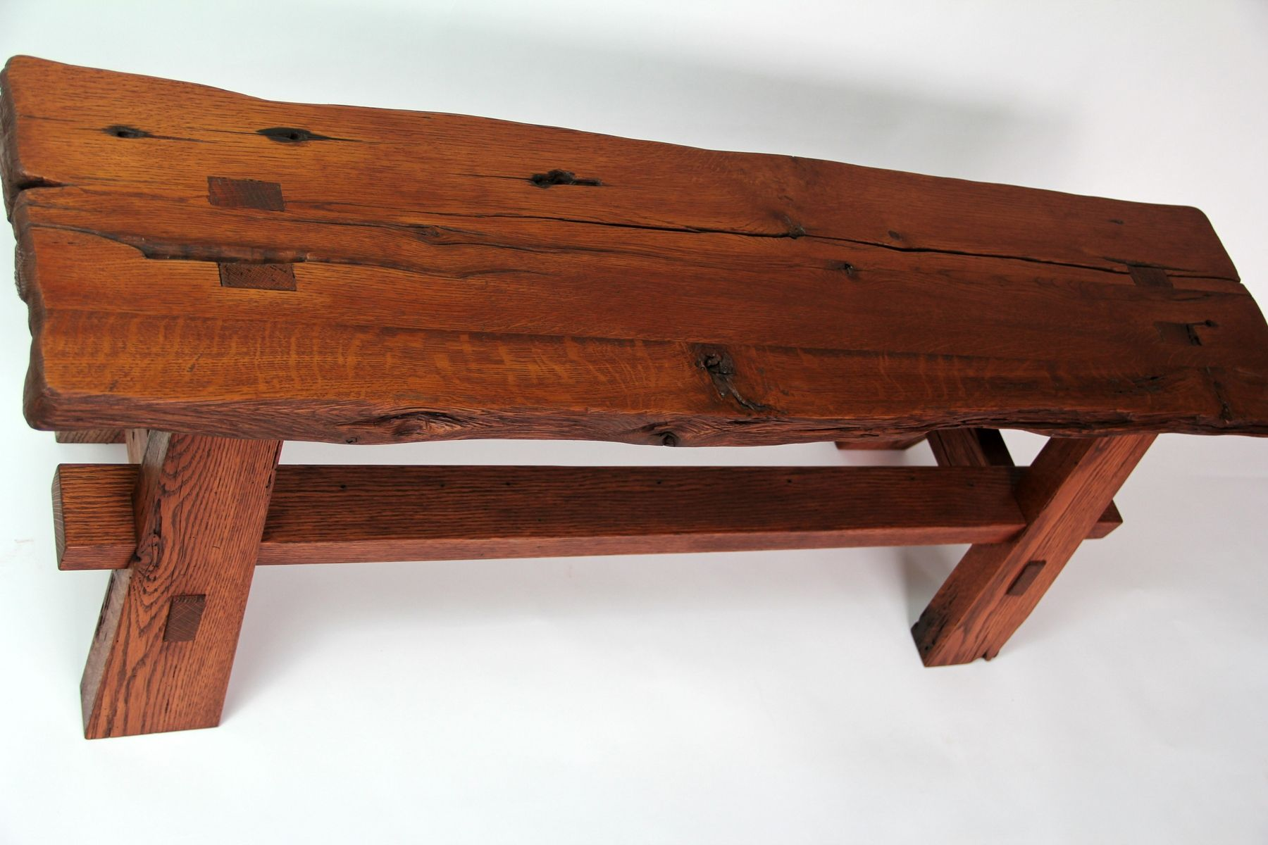 Hand Crafted Rustic Reclaimed Barnwood Bench By Intelligent Design Woodwork Custommade