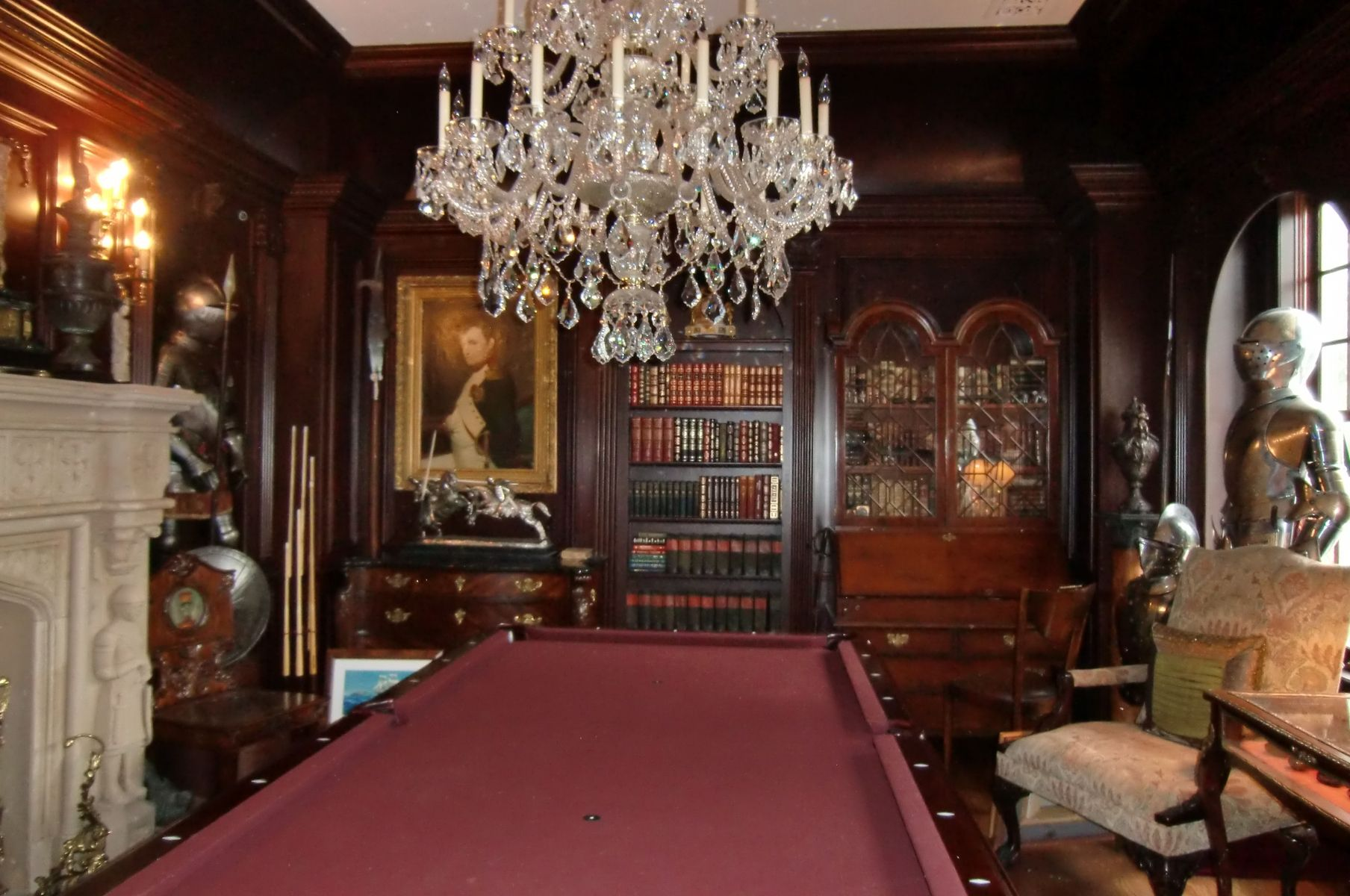 Handmade Billiard Room Amp Office In Mahogany By Odhner