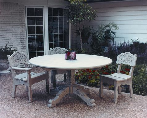 Custom Made Garden Pedestal Table And Garden Chairs
