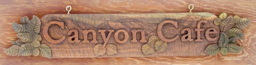 Custom Made Customized Hand Carved Wooden Sign