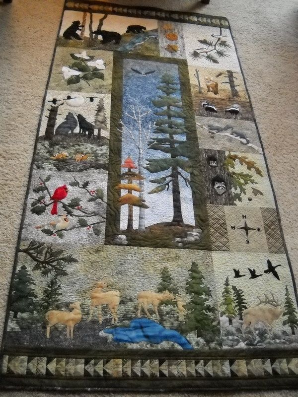 Handmade Quilted Wall Art Woodland Wildlife By Sue Ann