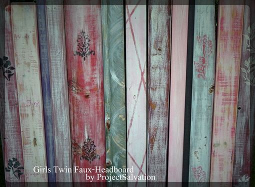 Custom Made Girls Twin Headboard / Faux Headboard/ Reclaimed Wood Headboard