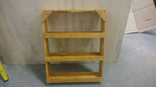 Custom Made Rustic Spice Rack From Reclaimed Wood