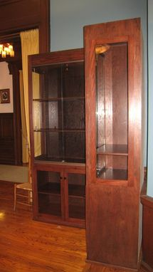 Custom Made Oak Museum Display Cases