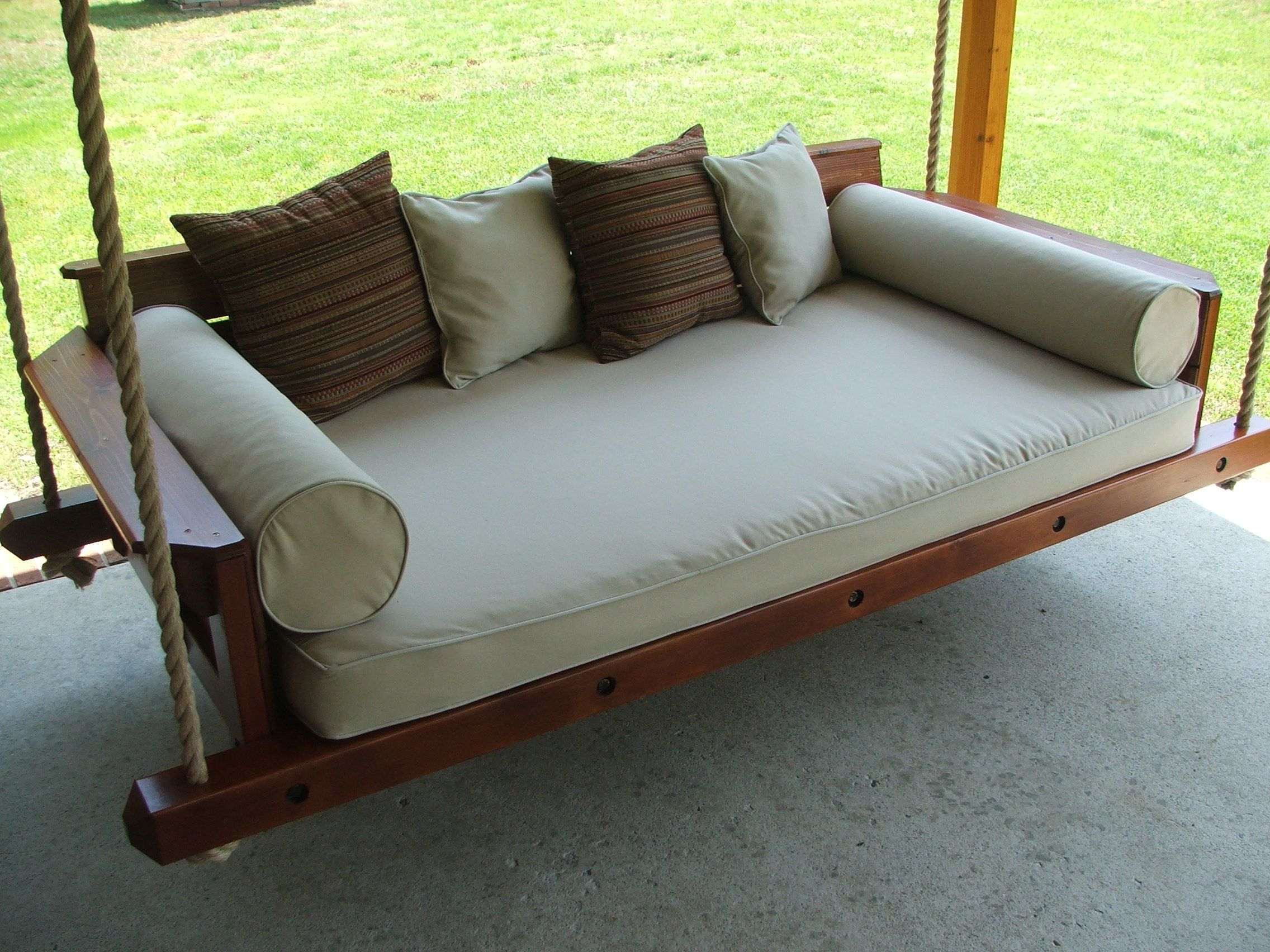 Custom Rustic Porch Bed Swing by Carolina Porch Swings