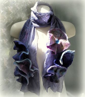 Custom Made Silk Felt Blossom Scarf