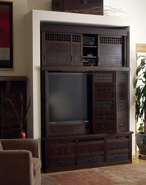 Custom Made Japanese Tonsu Style Elm Entertainment Center