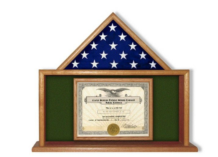buy a custom made army flag and certificate display case, made to ...