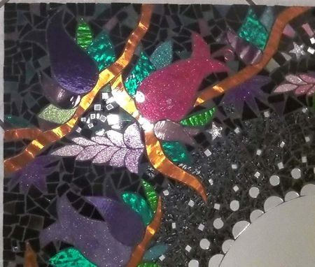 Custom Made Mosaic Mirror Large Glitter Stained Glass 30 X 30