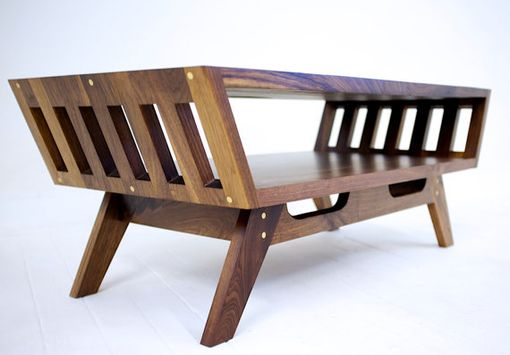 Custom Made The April V2: Midcentury Modern Walnut Coffee Table