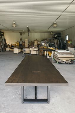 Custom Made Solid Wood Conference Table