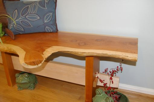Custom Made Live Edge Cedar Bench