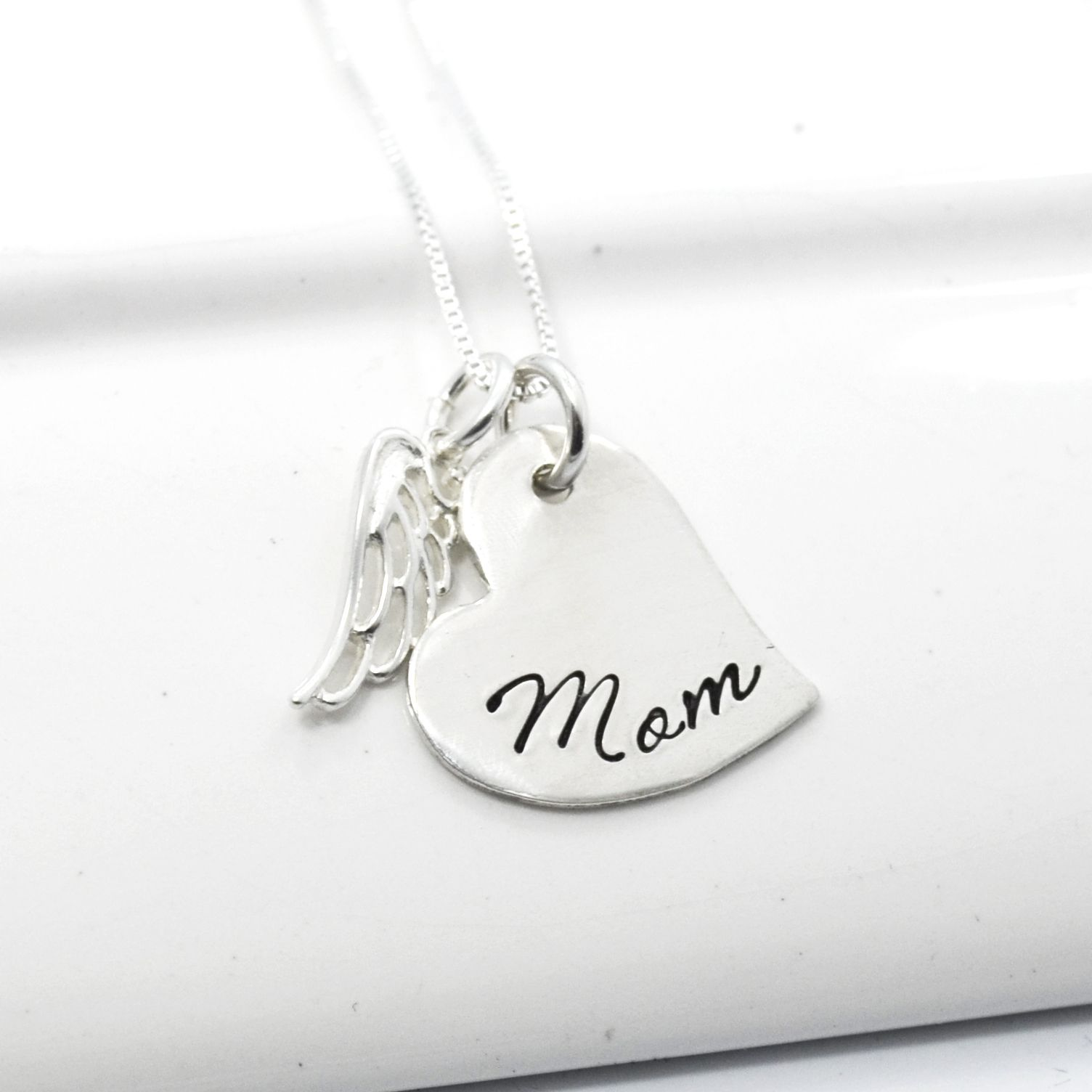 bqkl in memory memorial listing and heart il fullxfull personalized stainless charm steel wing necklace