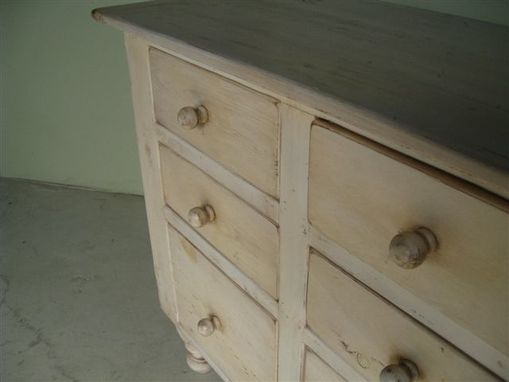 Custom Made 2 Piece Hutch With 6 Drawers