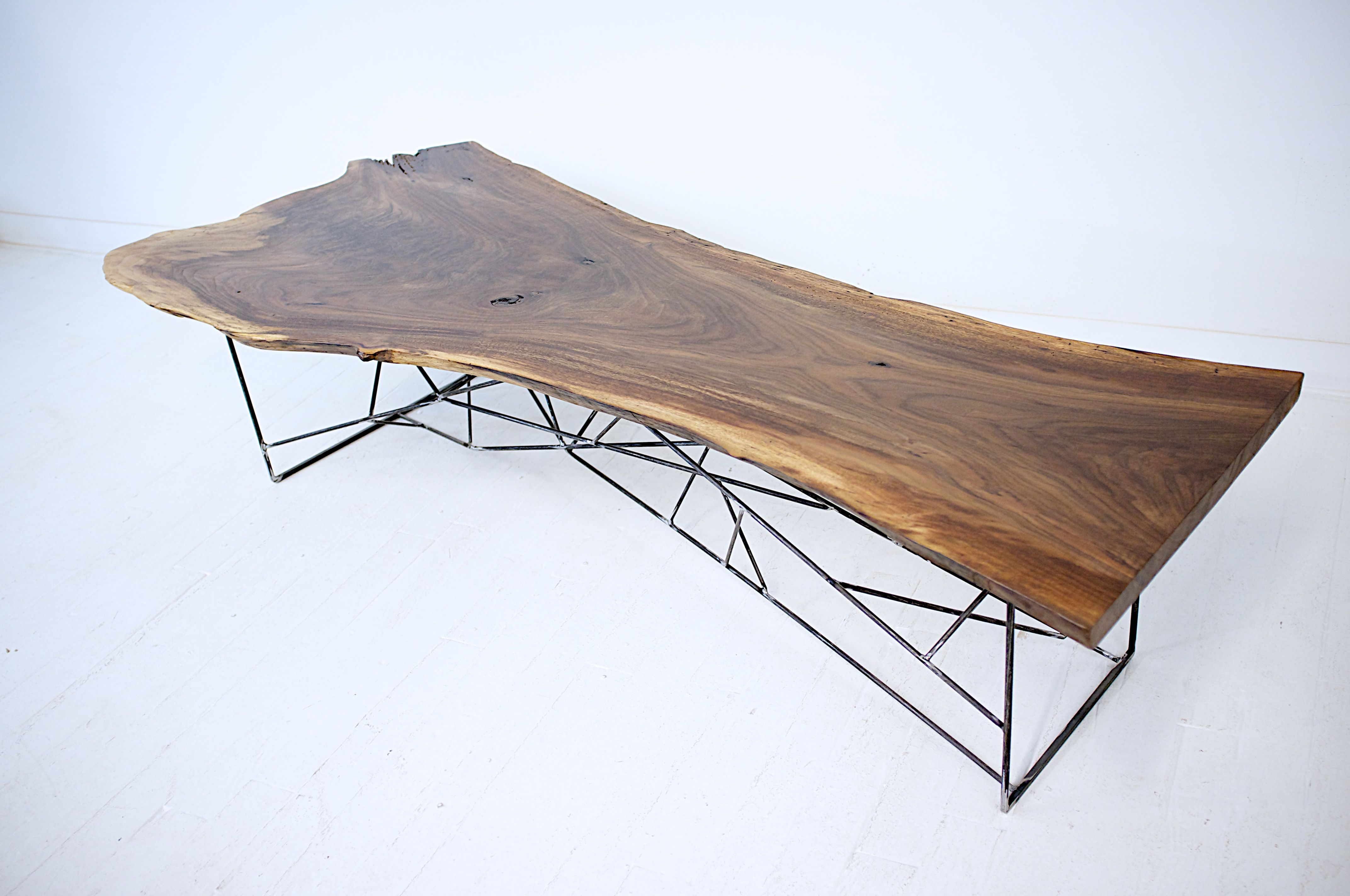 Custom Made Claro Walnut Slab Coffee Table The Ricochet