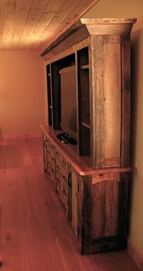 Custom Made Rustic Entertainment Center